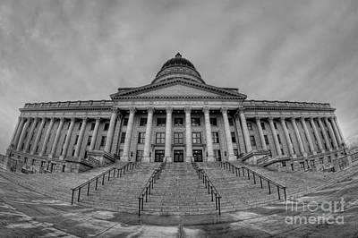 Utah State Capital Bw Original by Michael Ver Sprill