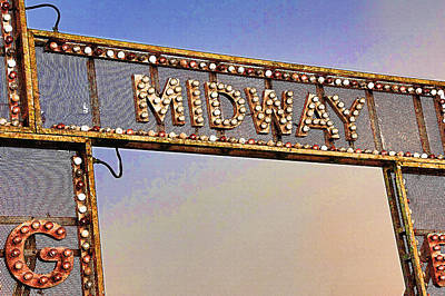 Utah State Fairgrounds 3 - Midway Entrance Art Print by Steve Ohlsen
