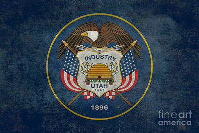 Science Collection - Utah State Flag vintage version by Bruce Stanfield
