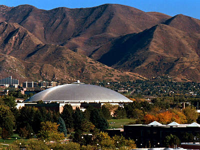 Utah Utes Jon M. Huntsman Center Art Print by Replay Photos