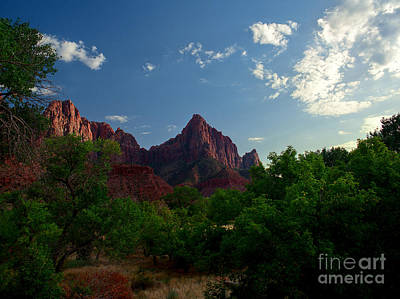 Photograph - Utah - Zion National Park - The Watchman 2 by Terry Elniski