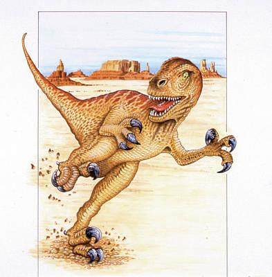 Utahraptor Dinosaur Art Print by Deagostini/uig