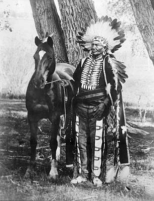 Ute Photograph - Ute Chief Ignacio, C1904 by Granger