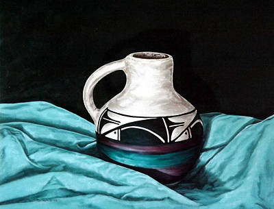 Painting - Ute Mnt Pottery by Linda Becker