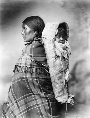 Ute Photograph - Ute Woman And Baby, C1899 by Granger