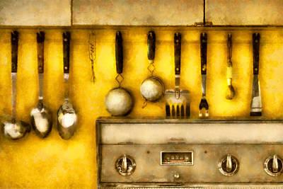 Utensils - The Kitchen  Art Print by Mike Savad