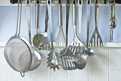 Utensils Art Print by Tom Gowanlock