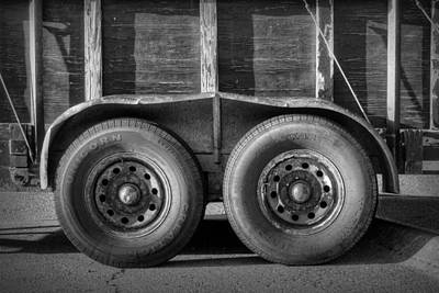 Utility Trailer Wheels Art Print