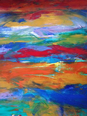 Laguna Beach Painting - Utopia by Tanya Lozano Abstract Expressionism