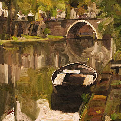 Briex Painting - Utrecht - Oude Gracht By Briex by Nop Briex