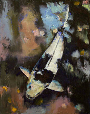 Shimmering Painting - Utsuri Koi Reflections by Michael Creese