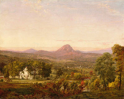 Jasper Francis Cropsey Painting - Autumn Landscape Sugar Loaf Mountain. Orange County  New York by Jasper Francis Cropsey