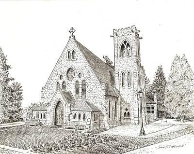 Religious Art Drawing - Uva Chapel by John Hopson