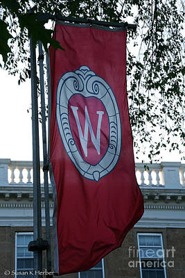 Photograph - Uw Flag by Susan Herber