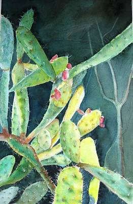 Mayan Painting - Uxmal Cactus by Ronald Oliver