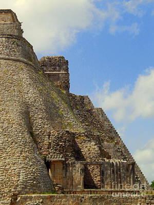 Photograph - Uxmal Pyramid Yucatan Mexico by Michael Hoard