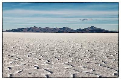 Photograph - Uyuni Salt Falt Pattern  Select Focus by For Ninety One Days