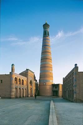 Madrasa Photograph - Uzbekistan, Khorezm, Khiva, Khiva. View by Everett