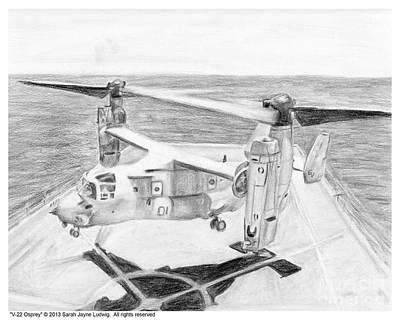 V-22 Osprey Art Print by Sarah Howland-Ludwig