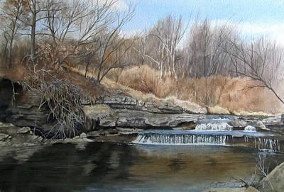 V-highway Creek Art Print by Denny Dowdy