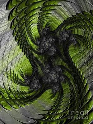 Curves Digital Art - V I R U S by Charles Dobbs