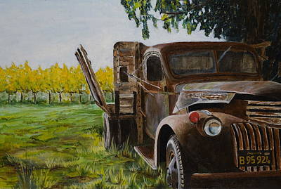 Winery Painting - V Satuii Napa Valley by Wyn Ericson