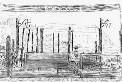 Window Bench Drawing - V7 by Gringo Artist