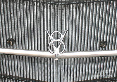 Photograph - V8 Emblem On Ford by Pamela Walrath