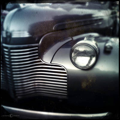 Photograph - V8 Grill In Gray by Tim Nyberg