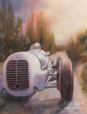 Automobilia Painting - V8ri by Robert Hooper