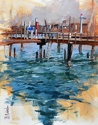 Painting - Vacant Pier by Anthony Sell