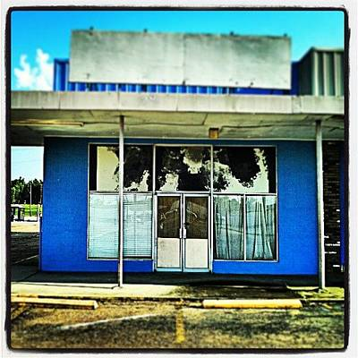 Color Contrast Wall Art - Photograph - Vacant Storefront, #nola by Glen Abbott