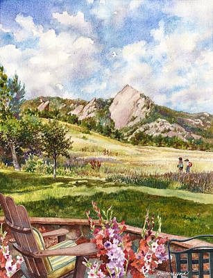 Vacation At Chautauqua Art Print by Anne Gifford