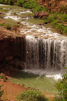 Vacation At Lower Navajo Falls Art Print
