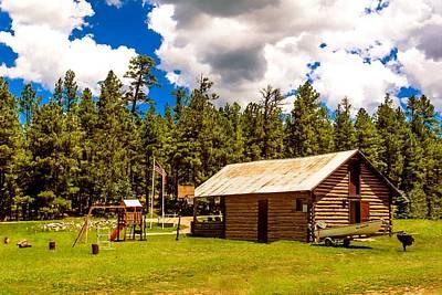 Photograph - Vacation Cabin Happy Jack Arizona by Bob and Nadine Johnston