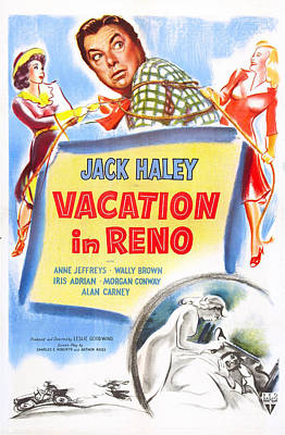 Vacation In Reno, Us Poster, From Left Art Print by Everett