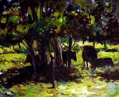 Vaches Dans Le Bois Original by Charlie Spear
