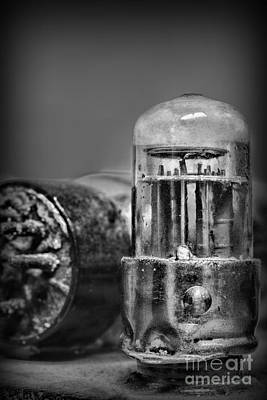 Vacuum Tube - Black And White Art Print