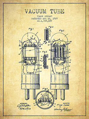 Vacuum Tube Patent From 1929 - Vintage Art Print