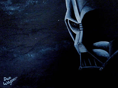 Painting - Vader Galaxy by Dan Wagner