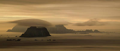 Vaeroy Islands At Cloudy Sunset Art Print