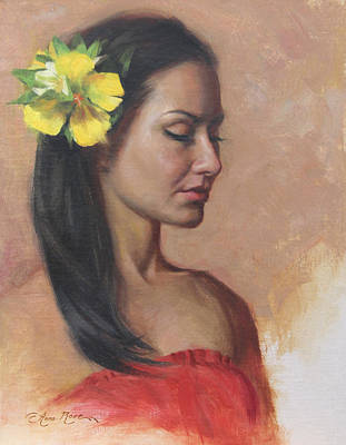 Yellow Flowers Painting - Vai by Anna Rose Bain