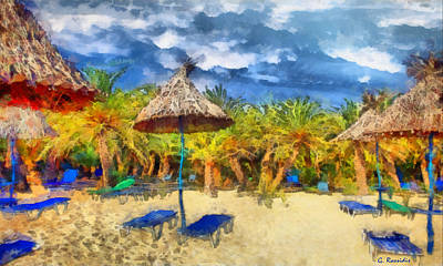 Rossidis Painting - Vai Beach Crete by George Rossidis