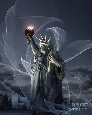 Photograph - Light Of Liberty by Edmund Nagele