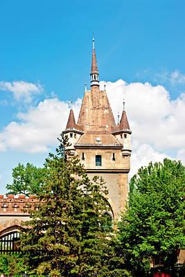 Buda Photograph - Vajdahunyad Castle In Varosliget (city by Miva Stock