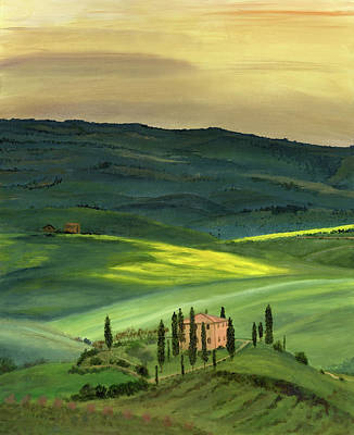 Italian Landscape Painting - Val D II by Cecilia Brendel