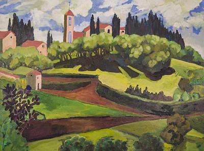 Painting - Val Di Barbarosa Italy by Doris  Lane Grey