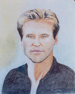 Val Kilmer Wall Art - Drawing - Val Kilmer  by Anne Provost