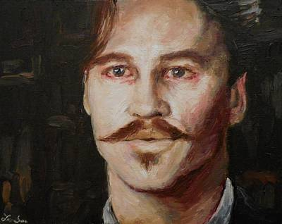 Val Kilmer Wall Art - Painting - Val Kilmer As Dr. John Henry Holliday by Lexi-Shae Brooks