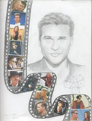 Val Kilmer Wall Art - Drawing - Val Kilmer-film Clip by Anne Provost